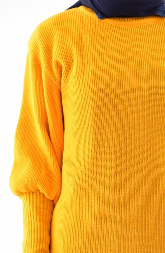 Balloon sleeve Knitwear Tunic 2124-15 Mustard 2124-15