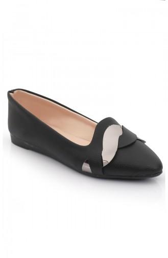 Women s Knit Patterned Flat shoe 6550 Black Platinum 6550-0