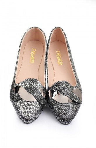 Women s Knit Patterned Flat shoe 6551-1 Gray 6551-1