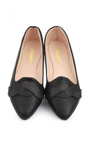 Women s Knit Patterned Flat shoe 6552-2 Black 6552-2