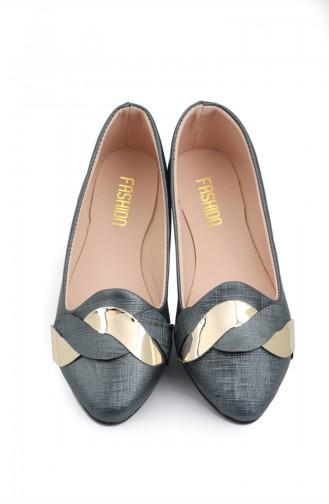 Women s Knit Patterned Flat shoe 6555-5 Blue 6555-5