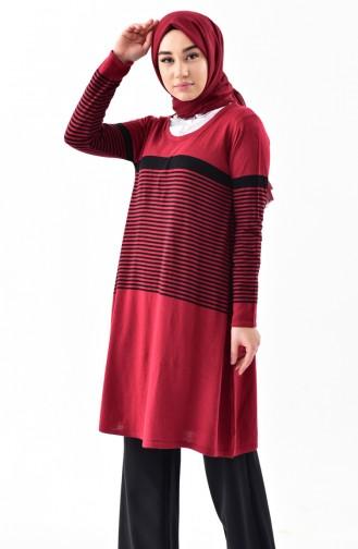 تونيك صوفي لون خمري 3907-05