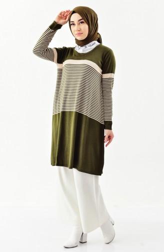 Tunique Tricot 3907-02 Vert Khaki 3907-02