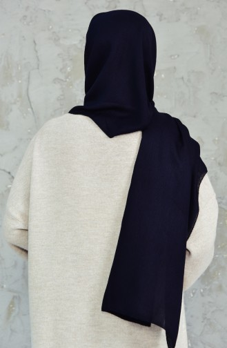 Plain Cotton Shawl 4017-01 Black 4017-01
