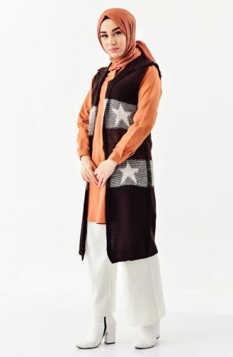Dark Brown Vest 1081-15
