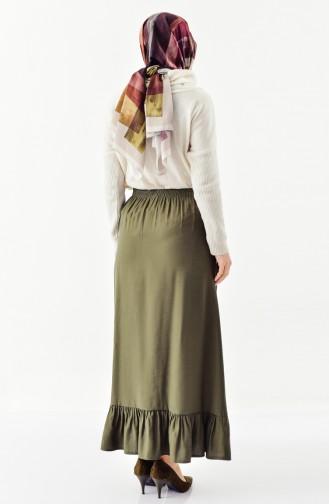 Shirring  Skir  1075-02 Khaki Green 1075-02