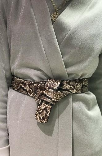 Women´s Snake Skin Belt İM01-09 Light Brown 01-09