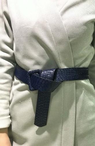 Women´s Snake skin Belt İM01-12 Navy Blue 01-12