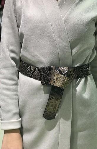 Women´s Snake Skin Belt İM01-14 Brown 01-14