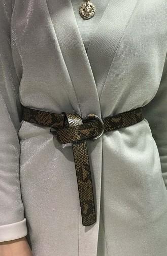 Women´s Snake Skin Belt IM02-08 Light Brown 02-08