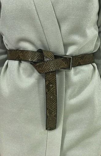 Women´s Snake skin Belt IM05-02 Coffee 05-02