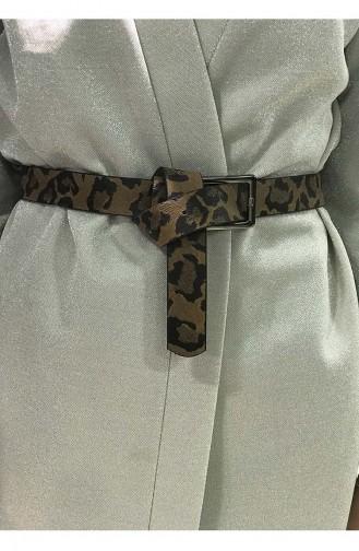 حزام خصر للنساء بتصميم مرقط IM05-03 لون بني 05-03