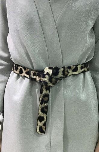 Women´s Leopard Belt IM05-16 Mink Black 05-16