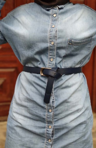 Women´s Belt KL04-02 Navy Blue 04-02