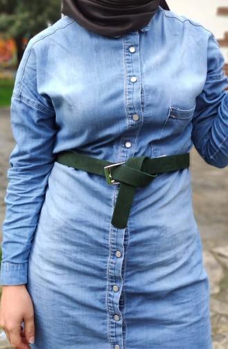 Ladies Belt OZ01-01 Green 01-01