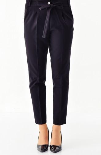 BURUN  Waist Elastic Straight Leg Pants 0159-01 Black 0159-01