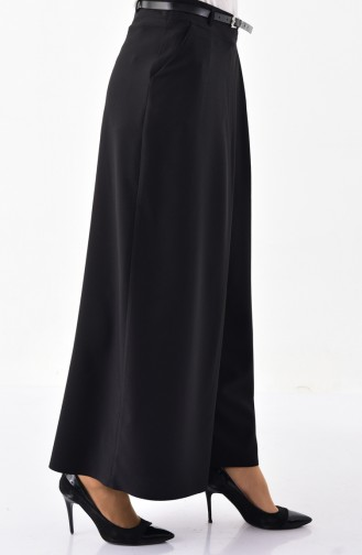 Belted bell-bottomed Pants   31248-01 Black 31248-01