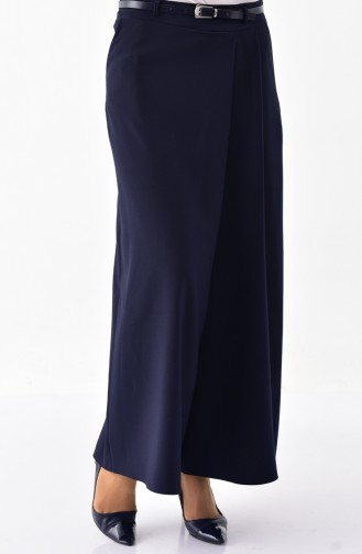 BURUN  Belted Trousers Skirt 31248-02 Navy Blue 31248-02