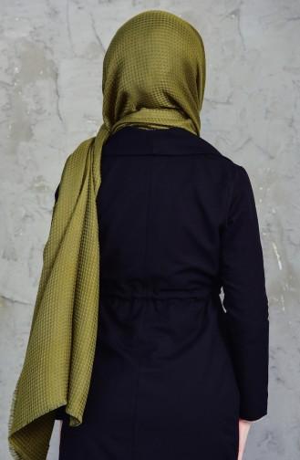 Plain Square Shawl 001-213-3 Khaki 001-213-3