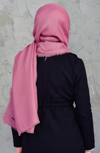 Akel Plain Square Shawl 001-213-5 Dried Rose 001-213-5