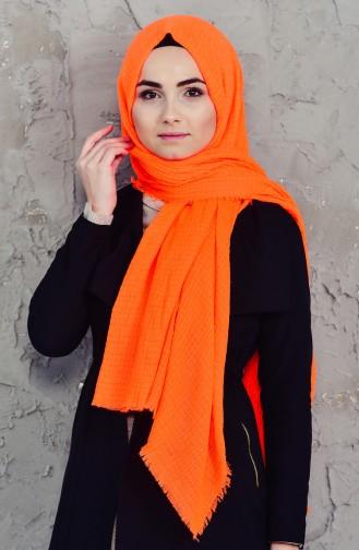 Akel Sponge Printed Plain Shawl 001-418-5422 Orange 001-418-5422