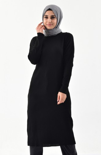 Tricot Long Tunic 3616-07 Black 3616-07