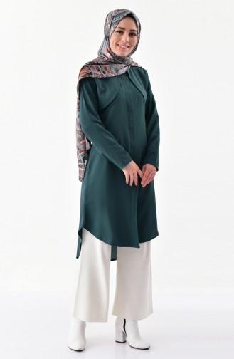 Buglem Viscose Tunic 1188-05 Emerald Green 1188-05