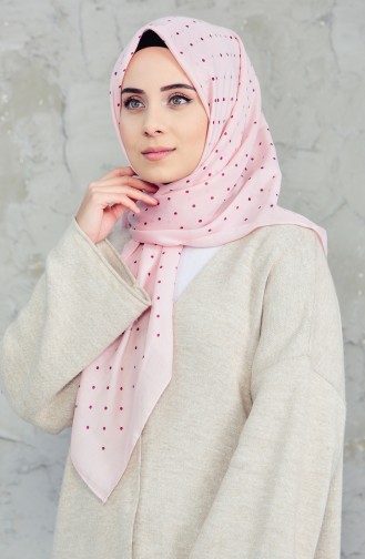 Akel Cheesecloth Scarf 001-396A-15 Rose Dry  Salmon 001-396A-15