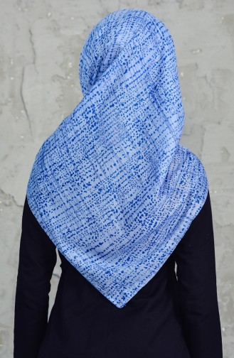 Akel Cheesecloth Scarf 001-396D-01 Blue 001-396D-01