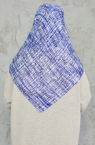 Akel Cheesecloth Scarf 001-396D-27 Navy Blue Saxe  001-396D-27