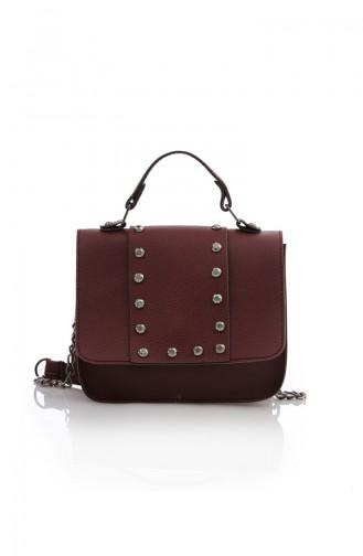 Stilgo Women´s Shoulder And Hand Bag Pls105Z-03 Claret Red 105Z-03