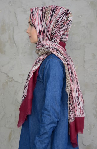 U.s Polo Assn. Cotton Shawl 2545-08 Claret Red 2545-08