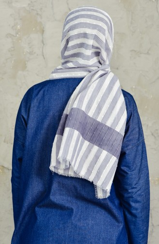 U.s Polo Assn. Printed Cutting Cotton Shawl 2549-22 Dark Gray Light Gray 2549-22