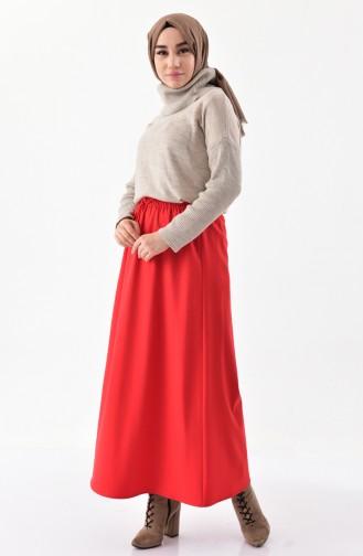 DURAN Elastic Waist Skirt 1095-04 Red 1095-04