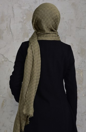 U.S POLO ASSN. Embroidered Wrinkled Cotton Shawl 38-B-3613 Grass Green 38-B-3613