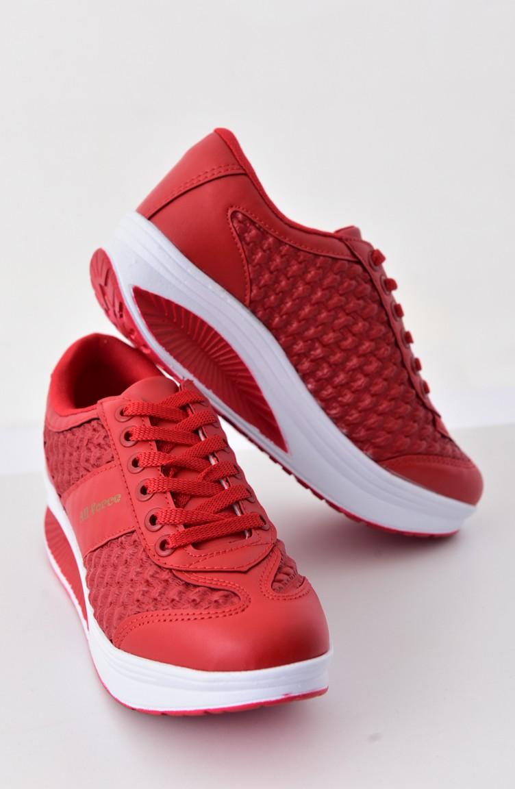 e581061936a93 ALLFORCE Bayan Spor Ayakkabı 0110-05 Kırmızı 0110-05
