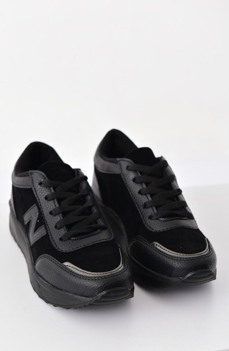 Allforce Sneakers Women 180 S Shoes 0756 Black Suede 0756