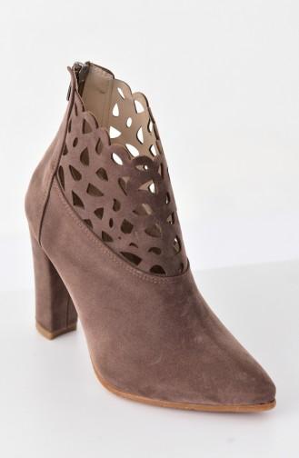 Stella Topuklu Ayakkabı 5510-02 Vizon 5510-02