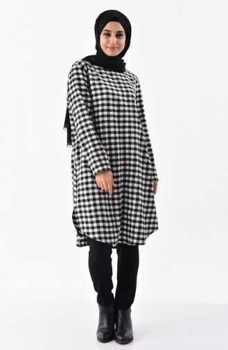 Checkered Tunic 1059-04 Black 1059-04