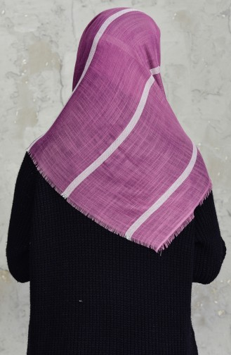 Striped Flamed Cotton Scarf 2159-05 Rose Dry 2159-05