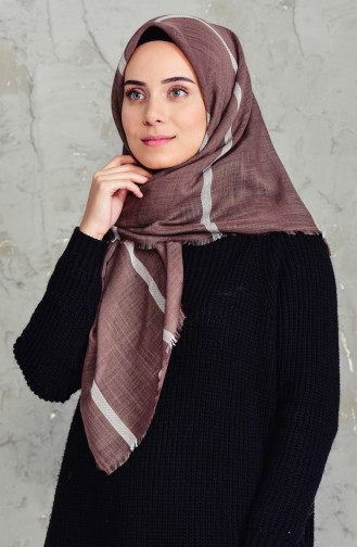 Striped Flamed Cotton Scarf 2159-07 Maroon 2159-07