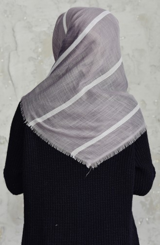 Striped Flamed Cotton Scarf 2159-10 Light Mink 2159-10