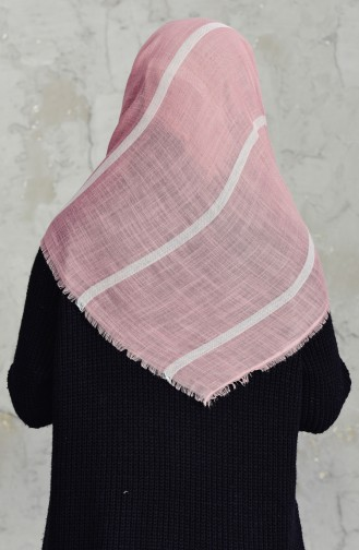 Striped Flamed Cotton Scarf 2159-11 Powder 2159-11