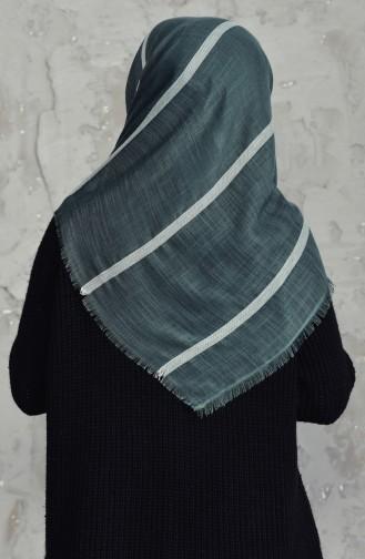 Striped Cotton Scarf 2159-13 Green 2159-13