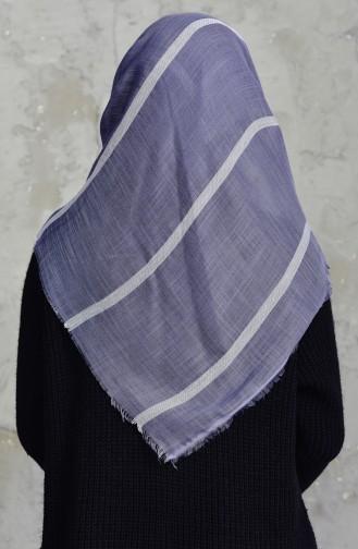 Striped Cotton Scarf 2159-15 Smoked 2159-15