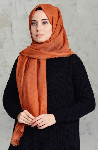 Pomponed Shawl 19042-23 Light Red 19042-23