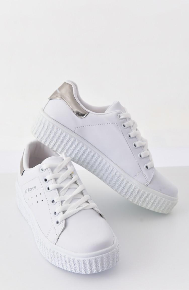 Allforce Women s Sport Shoes 0779 White Silver 0779 ...