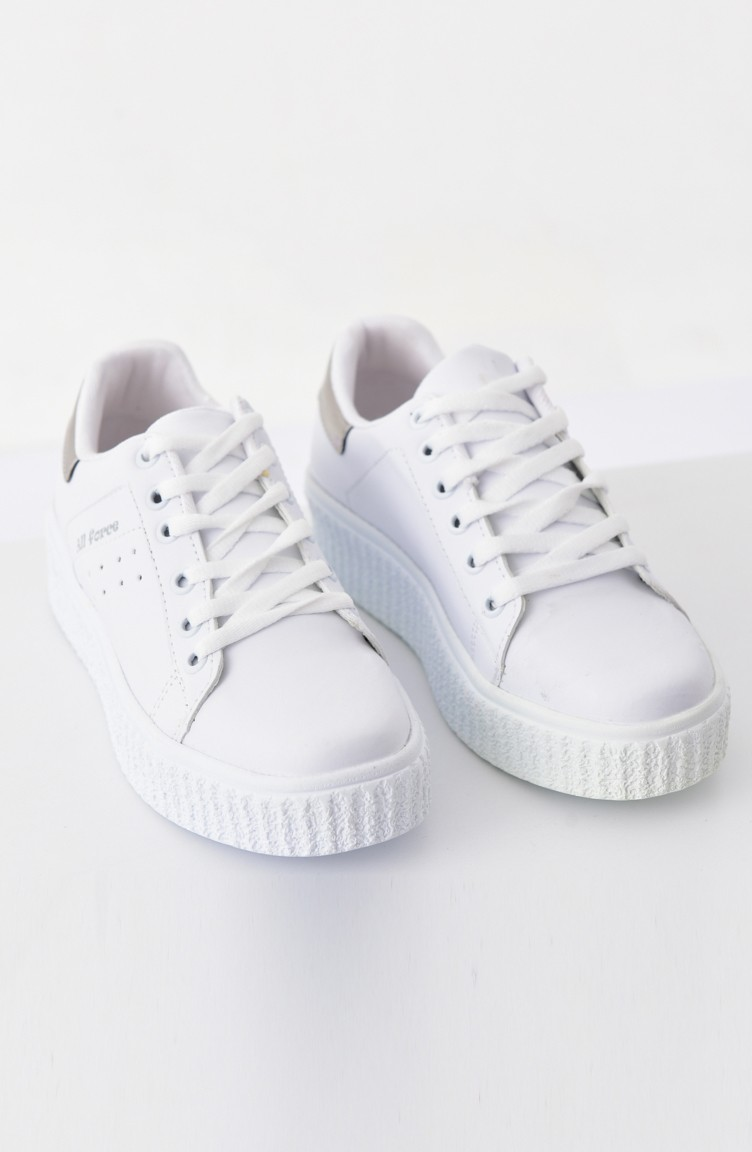 ... Allforce Women s Sport Shoes 0779 White Silver 0779 ...