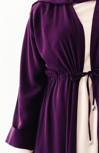 Sefamerve Doppel Anzug 0301-02 Lila Beige 0301-02