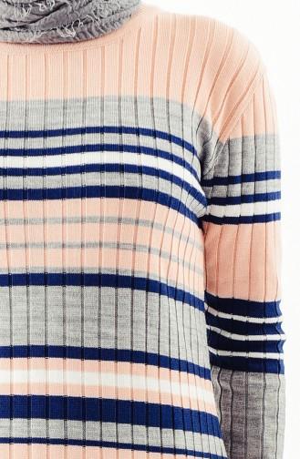 Knitwear Striped Tunic 2130-01 Powder 2130-01